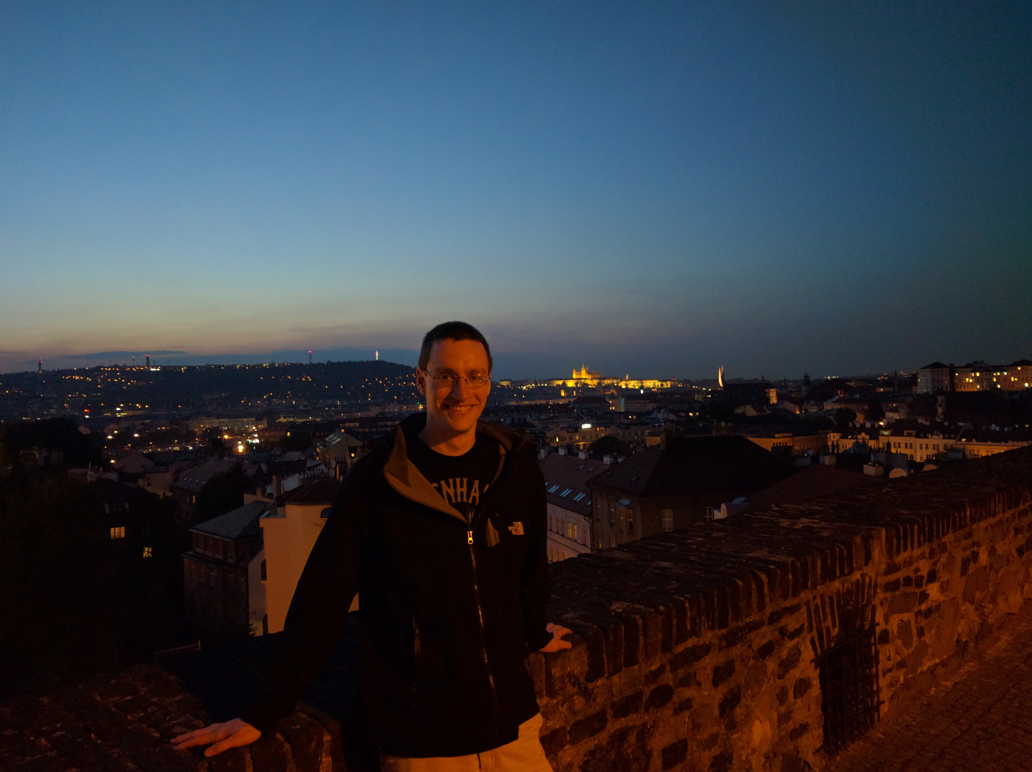 Tyler on the ramparts of Vyšehrad, Prague